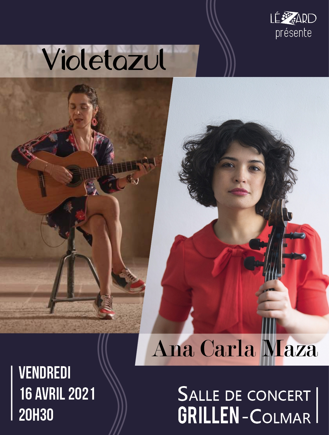 concert Lezard Violetazul et Ana Carla Maza