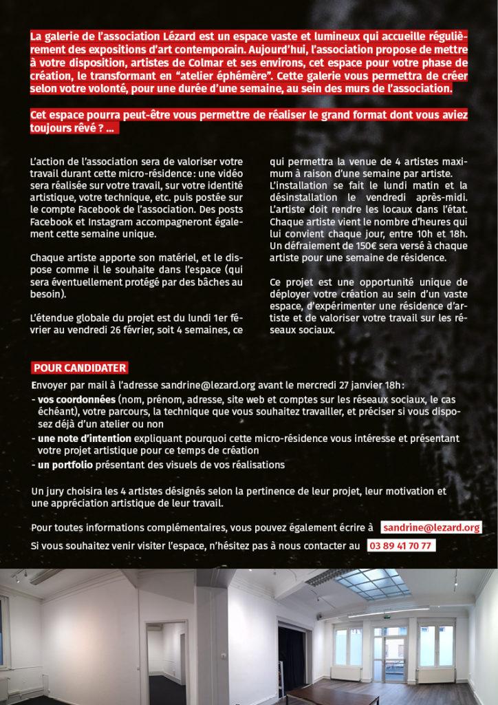 ateliers éphémères association LEZARD